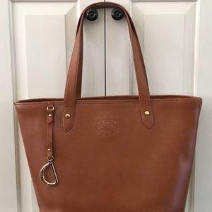 Ralph Lauren Brown Leather Tote Bag